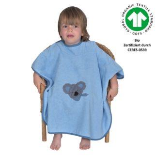 Badeponcho Koala bleu Größe 120/75